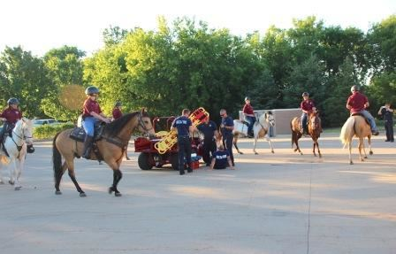Group of Mounted Division Riding Horses