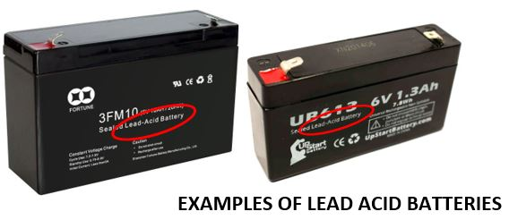 Two different examples of lead acid batteries