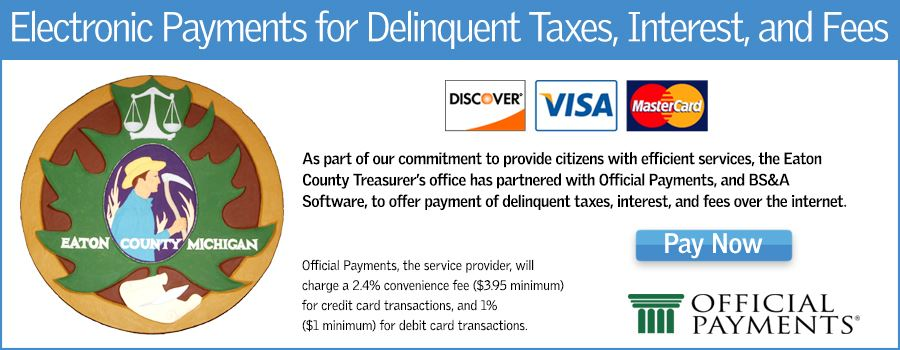 Electronic Payment for Delinquent Taxes, Interest and Fees