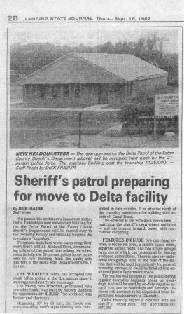 Sheriff's patrol preparing for move to Delta facility news article